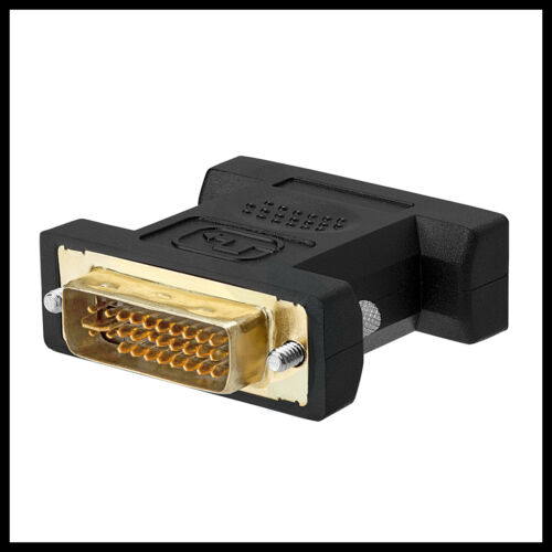 DVI-I male Analog Connector Adapter NEW USA 15-pin 24+5 to VGA Male