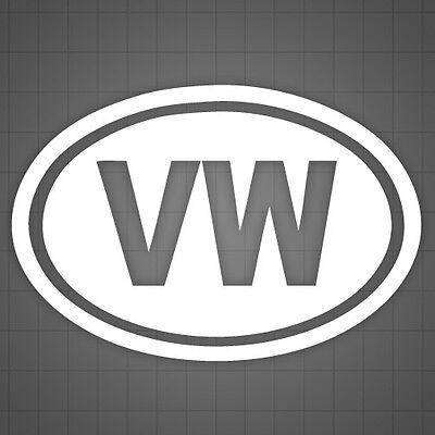 Car decal 6 PCS Volkswagen Decals Volkswagen Rabbit window sticker
