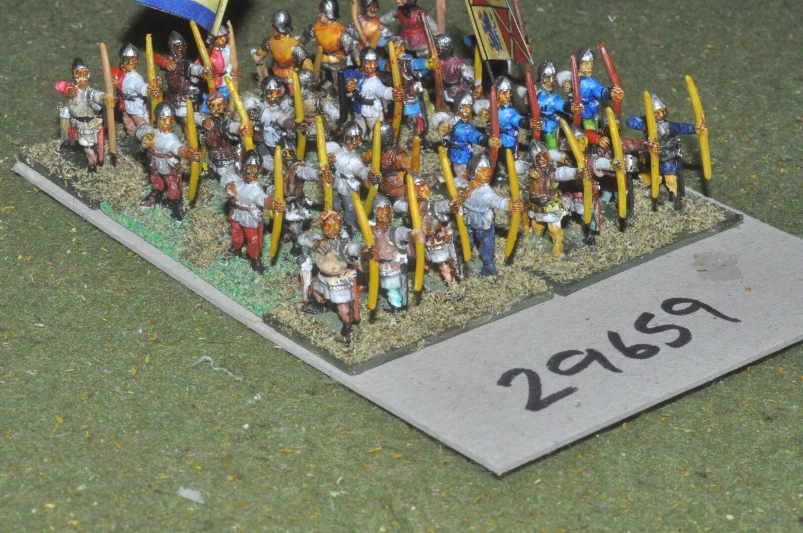15mm medieval   english - longbowmen 32 figures - inf (29659)