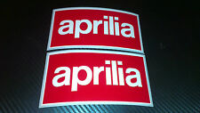 2 x Aprilia Box Logo Stickers Decals Motorcycle
