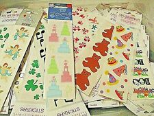 """Mrs Grossmans Stickers 30 Packages 2/"""" x 6/"""" strips Animals Flowers Holidays Kids"""