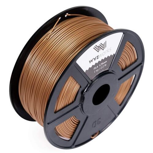 PLA 1.75mm 3D Printer Premium Filament 1kg//2.2lb Dark Gold