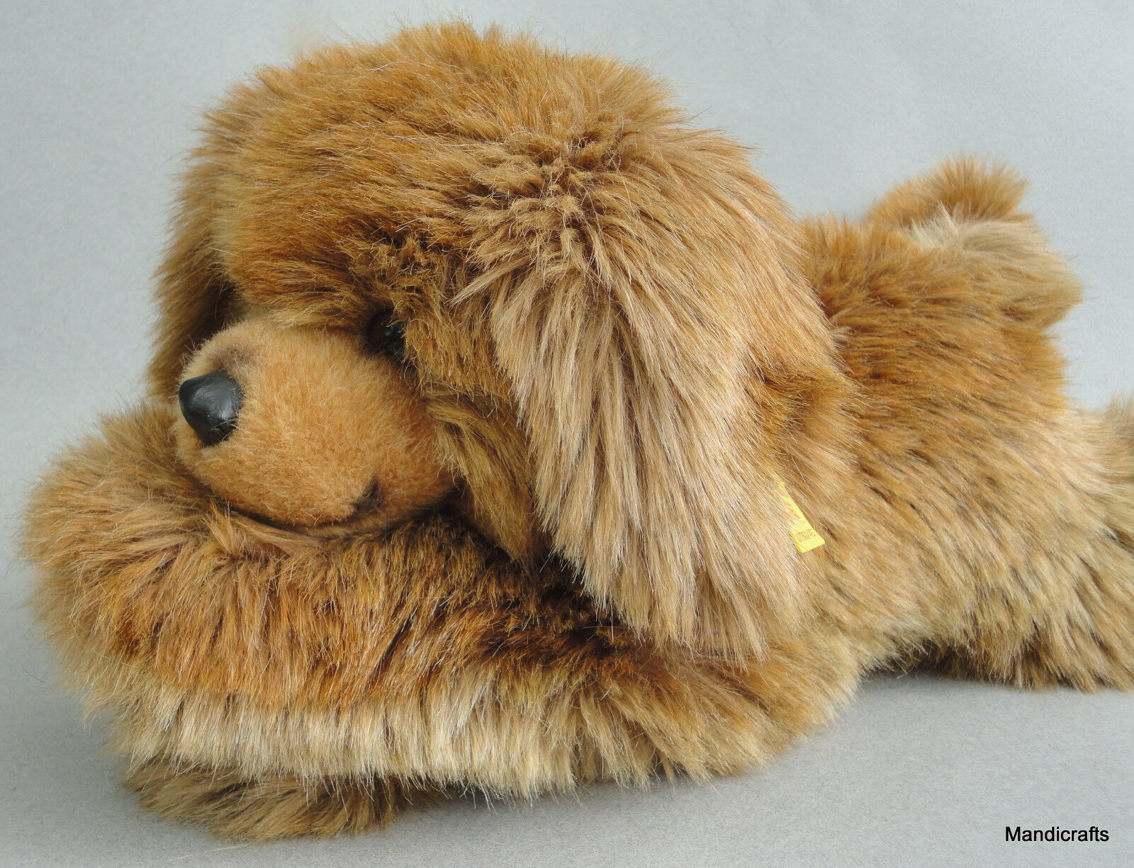Steiff Molly Barry Dog Shaggy Plush 45cm 18in ID Button Tag 1980 -84 Vintage