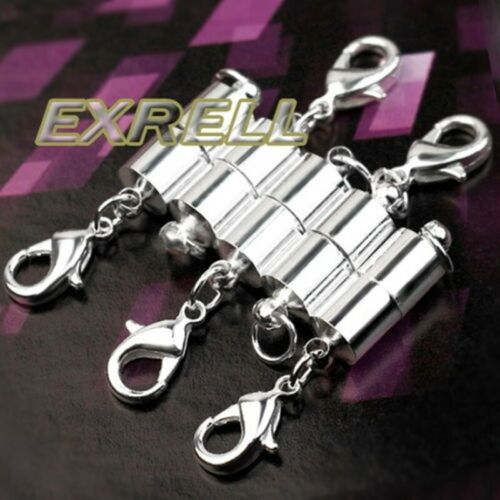 5* Silver DIY Bracelet Necklace Chain Magnetic Clasp Hook Jewelry Decoration