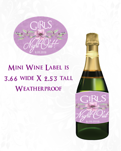 8 Oval Weatherproof Labels Wine Gift or Favor Labels for Showers Girls Night Out