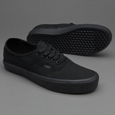 Vans Authentic Lite Canvas Black/Black Men's Classic Skate Shoes Size 9  190289081620 | eBay