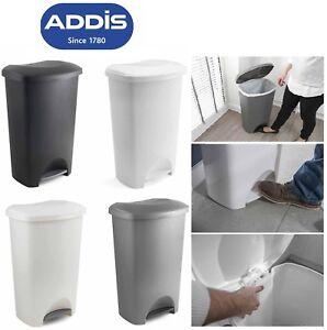 ADDIS-50L-FOOT-PEDAL-BIN-DUSTBIN-RUBBISH-PAPER-WASTE-KITCHEN-OFFICE-PLASTIC-BINS