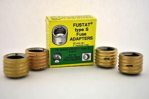 box of 4 sa 30 fustat type s fuse adapters for 30a 25a. Black Bedroom Furniture Sets. Home Design Ideas