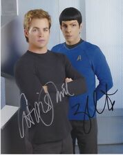 Star Trek (Chris Pine and Zachary Quinto) signed authentic 8x10 photo COA