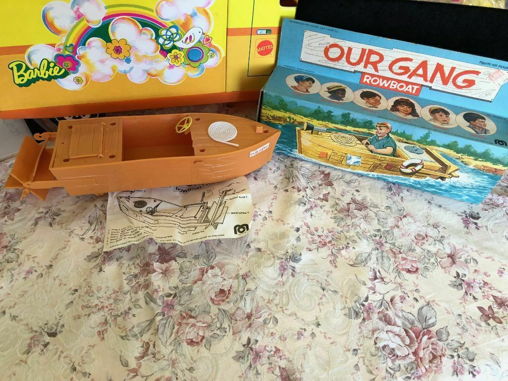 Vint 1975 Mego Our Gang Little Rascals Rowboat Paddle Boat Mint W BOX COMPLETE