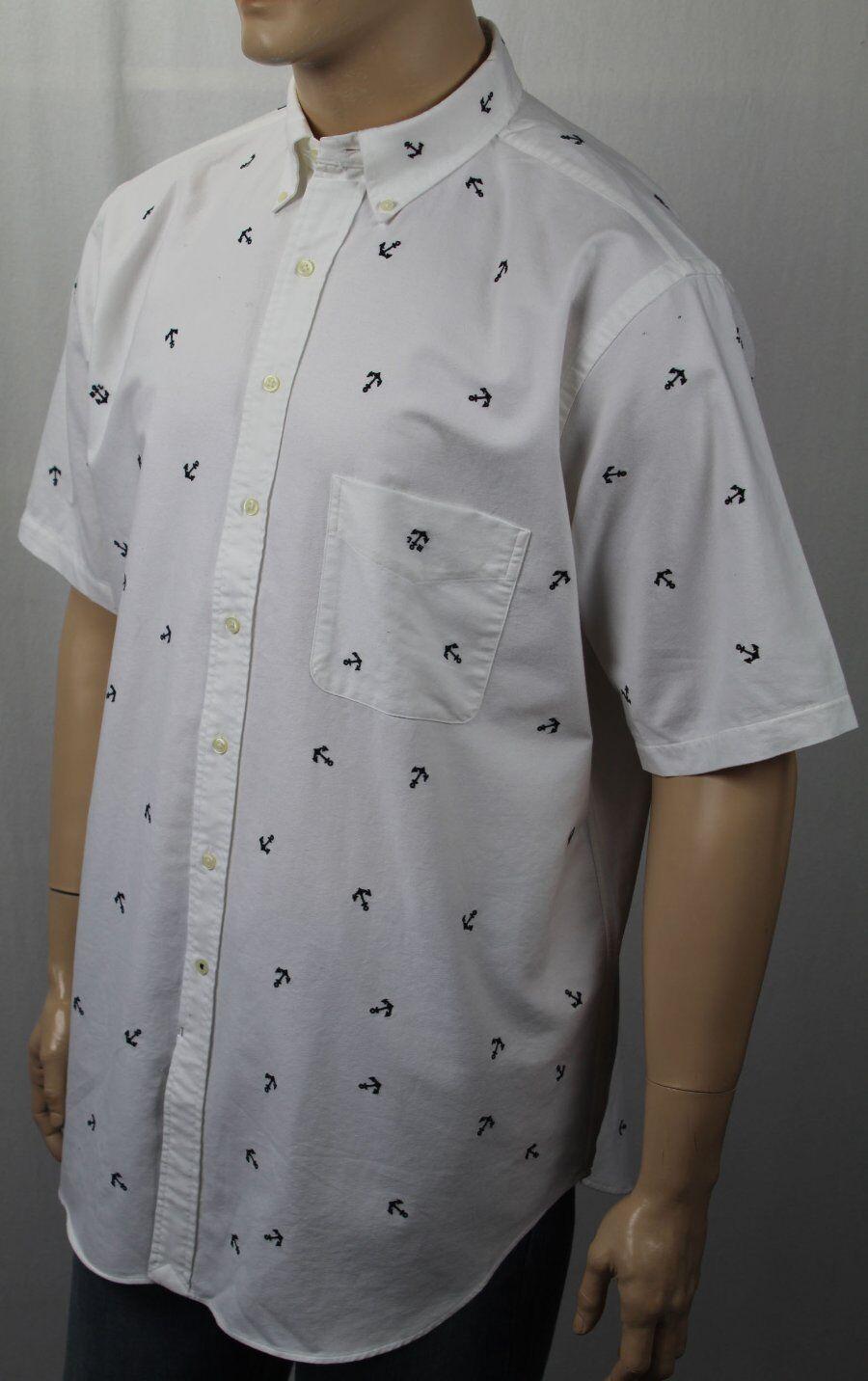 Ralph Lauren Weiß Nautical Anchor Classic Dress Shirt NWT  125