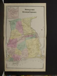 Maine/York County Map, 1872, Biddeford, Kennebunkport, Z4#62