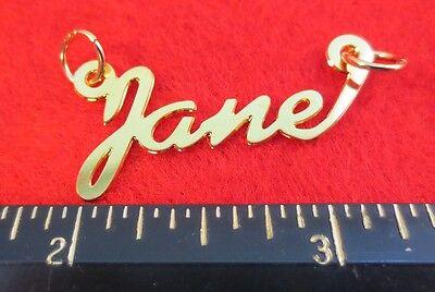 Obliging 14kt Or Ep Jane Personnalisé Nom Plaque Mot Pendentif Breloque 6171 Fashion Jewelry