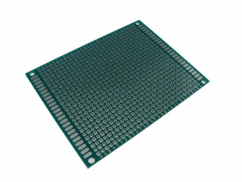"Pack of 2 7*9cm Double Side Prototype Board Perforated 0.1/"" Plated Breadboard"