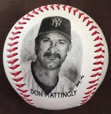 DON MATTINGLY 1996 BURGER KING Give Away Photo Ball NY YANKEES BASEBALL Free S&H