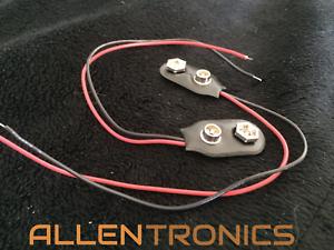 2pcs-9V-Volt-Battery-Black-Snap-Clip-Connector