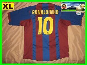 RARE MINT Barcelona #10 RONALDINHO xl shirt jersey HOME camiseta 2004 2005 nike