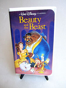 RARE-Walt-Disney-039-s-Beauty-and-The-Beast-VHS-1992-Black-Diamond-Classic-EUC