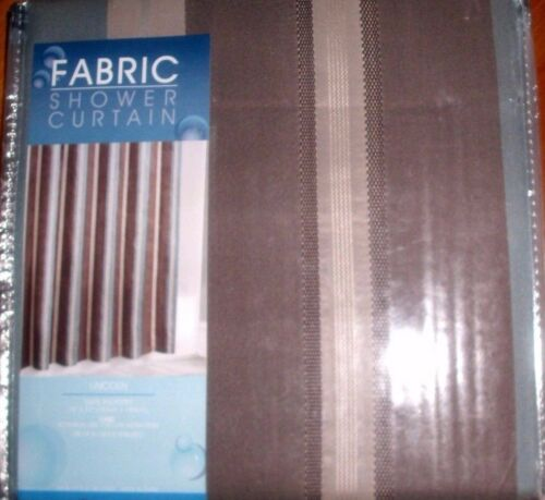 """STRIPED FABRIC SHOWER CURTAIN  by MAYTEX SIZE 72/""""X 72/"""" NEW IN BAG"""
