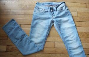 TOMMY-HILFIGER-Jeans-pour-Femme-W-26-L-34-Taille-Fr-36-VICTORIA-Ref-Y166