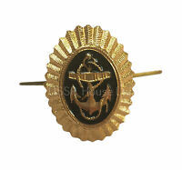 Soviet USSR Russian Army Navy Fleet Military ANCHOR Hat Cap Metal Pin Badge