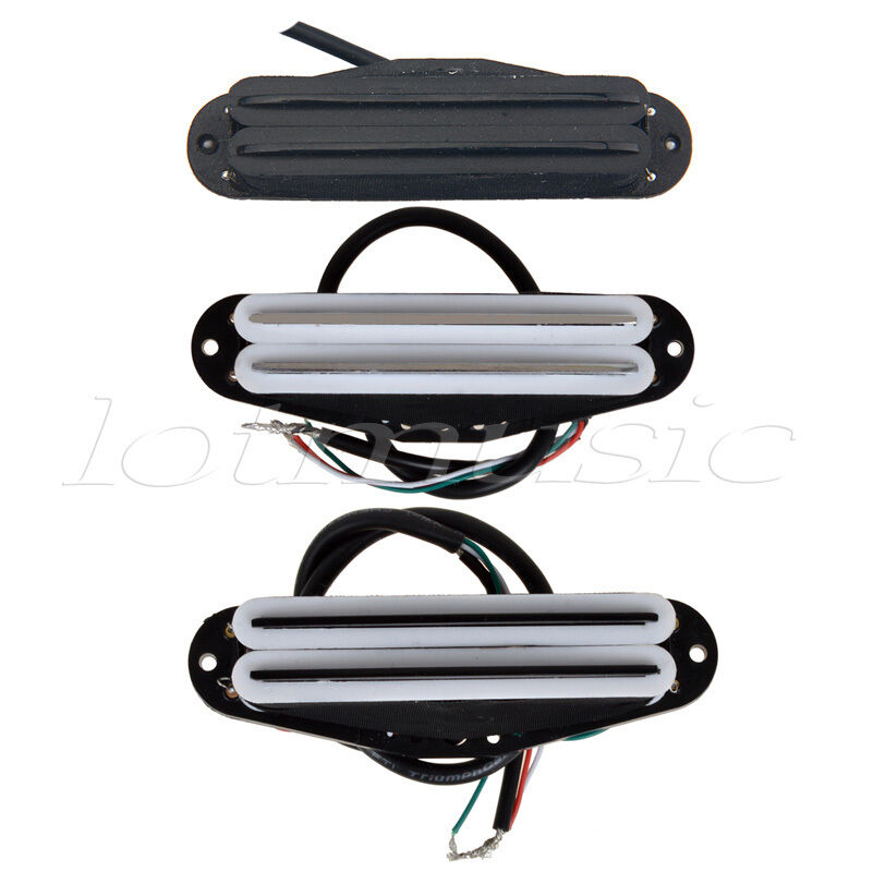 3pcs different electric guitar dual hot rail humbucker blade pickups single coil. Black Bedroom Furniture Sets. Home Design Ideas