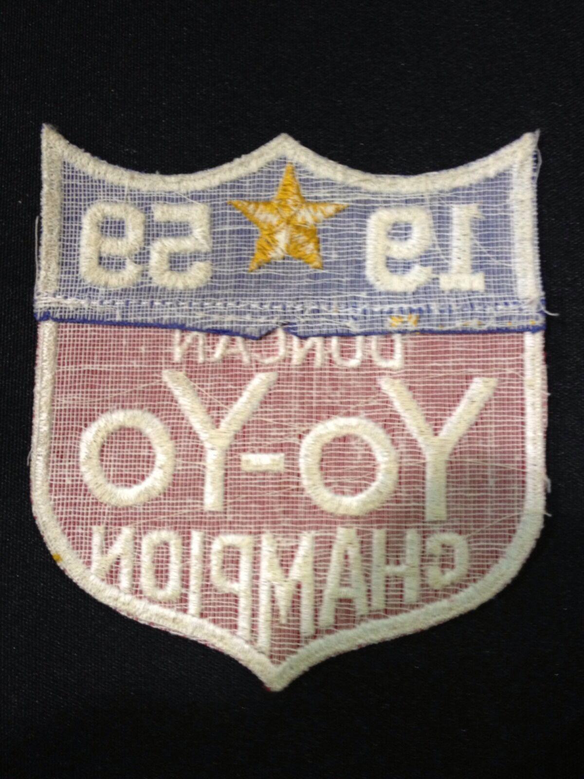 1959 DUNCAN YO-YO YO-YO YO-YO CHAMPION PATCH a0be64
