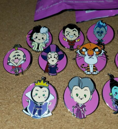 Disney Pins World of Evil Mystery COMPLETE SET 16 pins  FREE SHIPPING