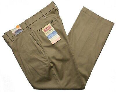 Haggar #5129 NEW Men/'s Flat Front Classic Fit 100/% Cotton No Iron Khaki Pants