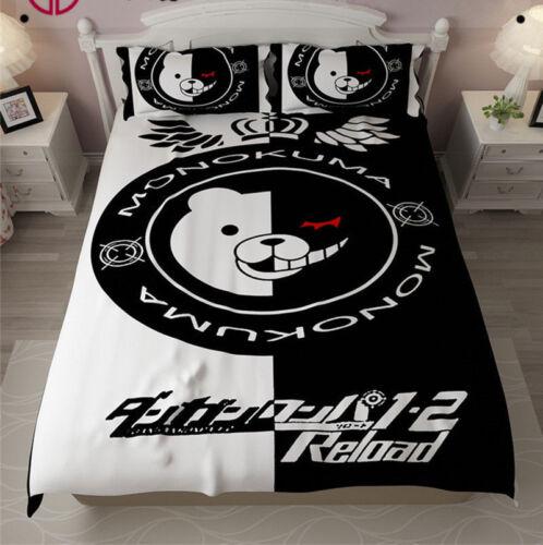 Anime Danganronpa Monokuma Bedding Sets Bear Cute Sheet Bedspread  Pillowcase