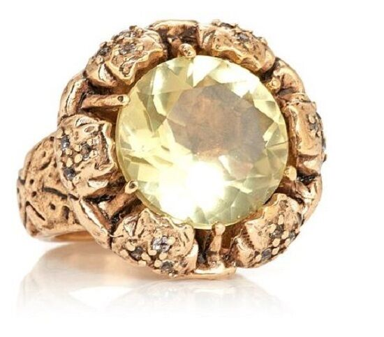 Muze By Gypsy 10 Ct Citrine &Topaz Istanbul Sunrise Bronze Ring Sz 6,7,8,9,10,11