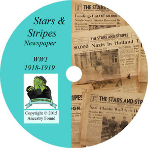 Ww1-Stars-And-Stripes-periodico-71-cuestiones-En-Cd-historia-genealogia-1918-19-Primera-Guerra