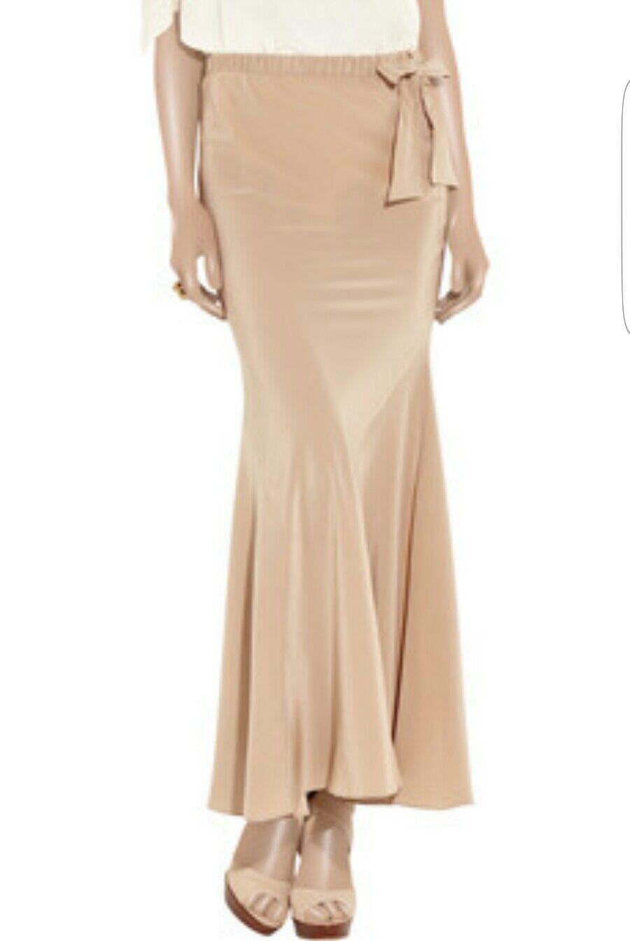 449.00 Haute Hippie Phillips Brushed Silk Maxi Skirt for tall  Size Medium