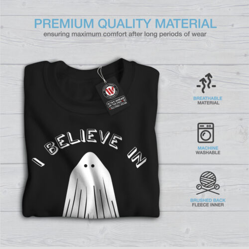 Wellcoda Believe In Ghosts Mens Sweatshirt Scary Funny Casual Pullover Jumper