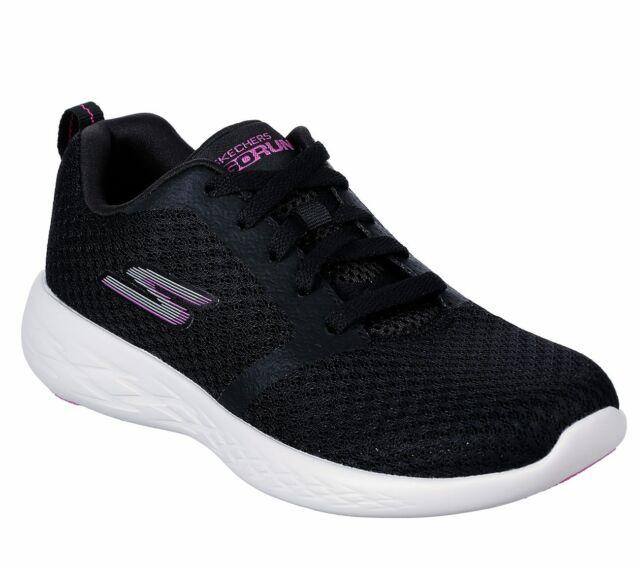 Skechers Black Pink shoes Women's Sport Go Run 600 Mesh Comfort Casual Gym 15098