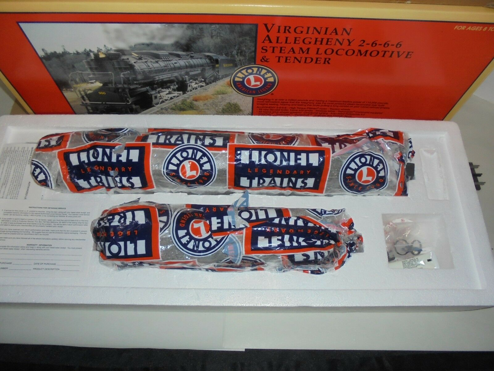 LIONEL 28028 2-6-6-6 ALLEGHENY STEAM LOCOMOTIVE WITH ALL ALL ALL BOXES ENGINE 0c7c6e