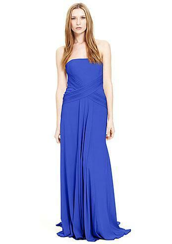 NICOLE MILLER STRAPLESS STRAPLESS STRAPLESS HEAVY STRETCH CDC GOWN DRESS SIZE 12  795 DM0036 e01636