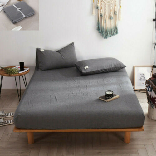 Extra Deep Fitted Sheet Bed Sheets 100/% Poly Cotton for Bedroom