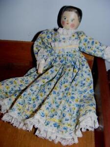 Penny-Grodnertal-Antique-11-034-DOLL-Peg-Leg-Wooden-Articulated-jointed-WOOD-Vtg