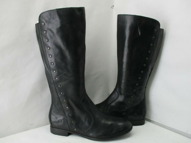 Ankle BOOTS Size 8.5 Black Leather