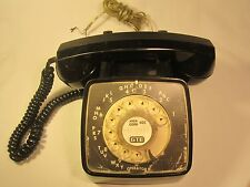 1976 *Working* Telephone Gte Automatic Electric Rotary Dial Desk Phone [Y94D]