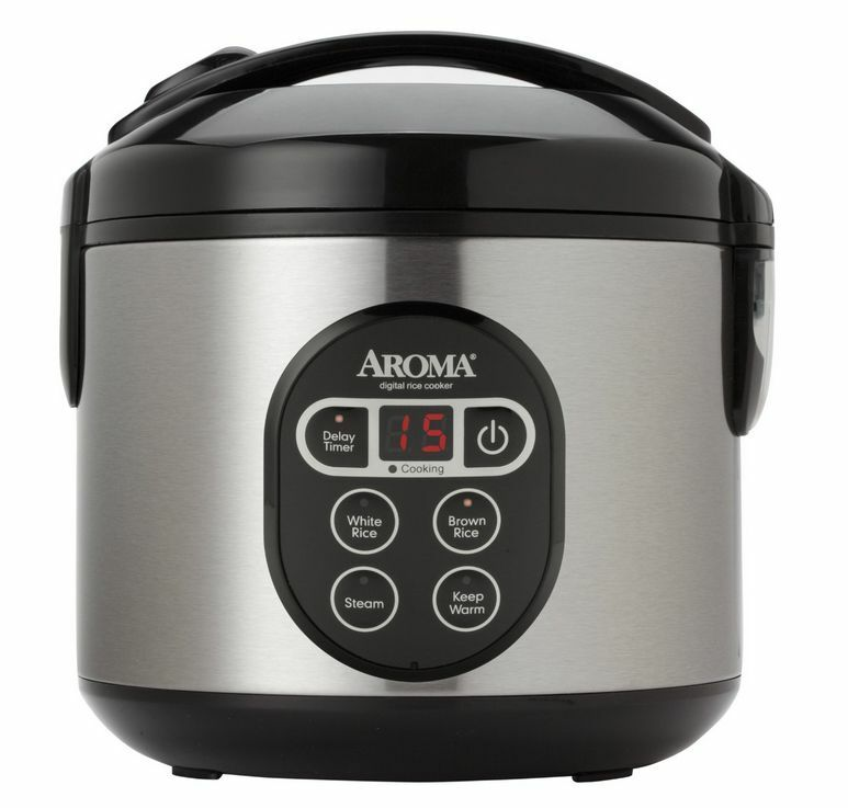 New 8 Cup Aroma Digital Rice Cooker Arc-914Sbd Food Steamer Stainless Steel
