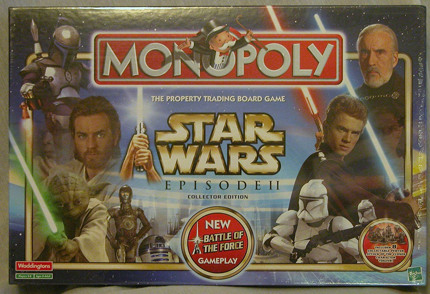 Star Wars Monopoly Episode II Collectors Edition By Waddingtons