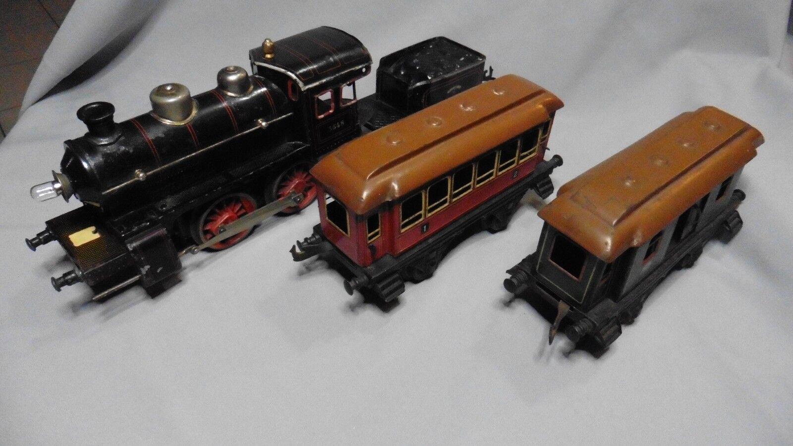 Aj567 bing locomotive steam wagon 3548 ext. 520 car passenger steam