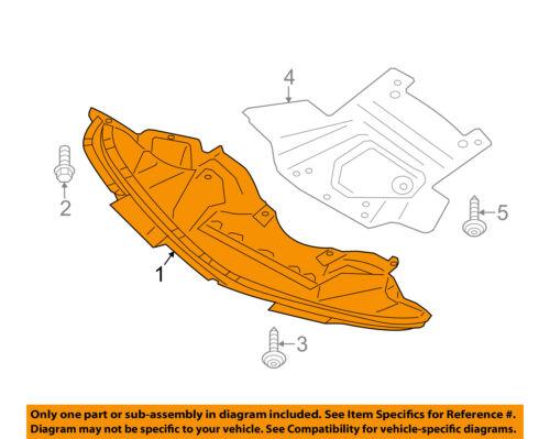 Dodge CHRYSLER OEM Splash Shield-FR Under Radiator//Engine Cover 68214511AC