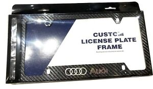 Audi Plate Frame >> Details About Real Carbon Fiber License Plate Frame For Audi A3 A4 A5 A6 A7 A8 Q5 Q7 Tt R8 Rs6