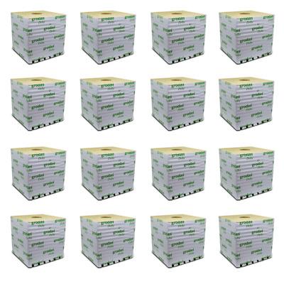 10 X 10 X 7.6cm Grodan Rock Wool Cubes Hydroponic Medium Pack Of 16