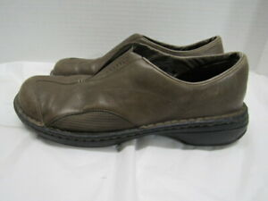 Merrell-Tetra-Flex-Brown-Leather-Women-039-s-Slip-On-Shoes-Size-10