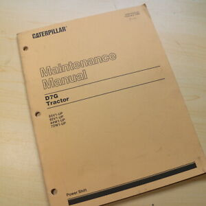 Details about CAT Caterpillar D7G Tractor Dozer Crawler Maintenance Guide  Manual Book owners