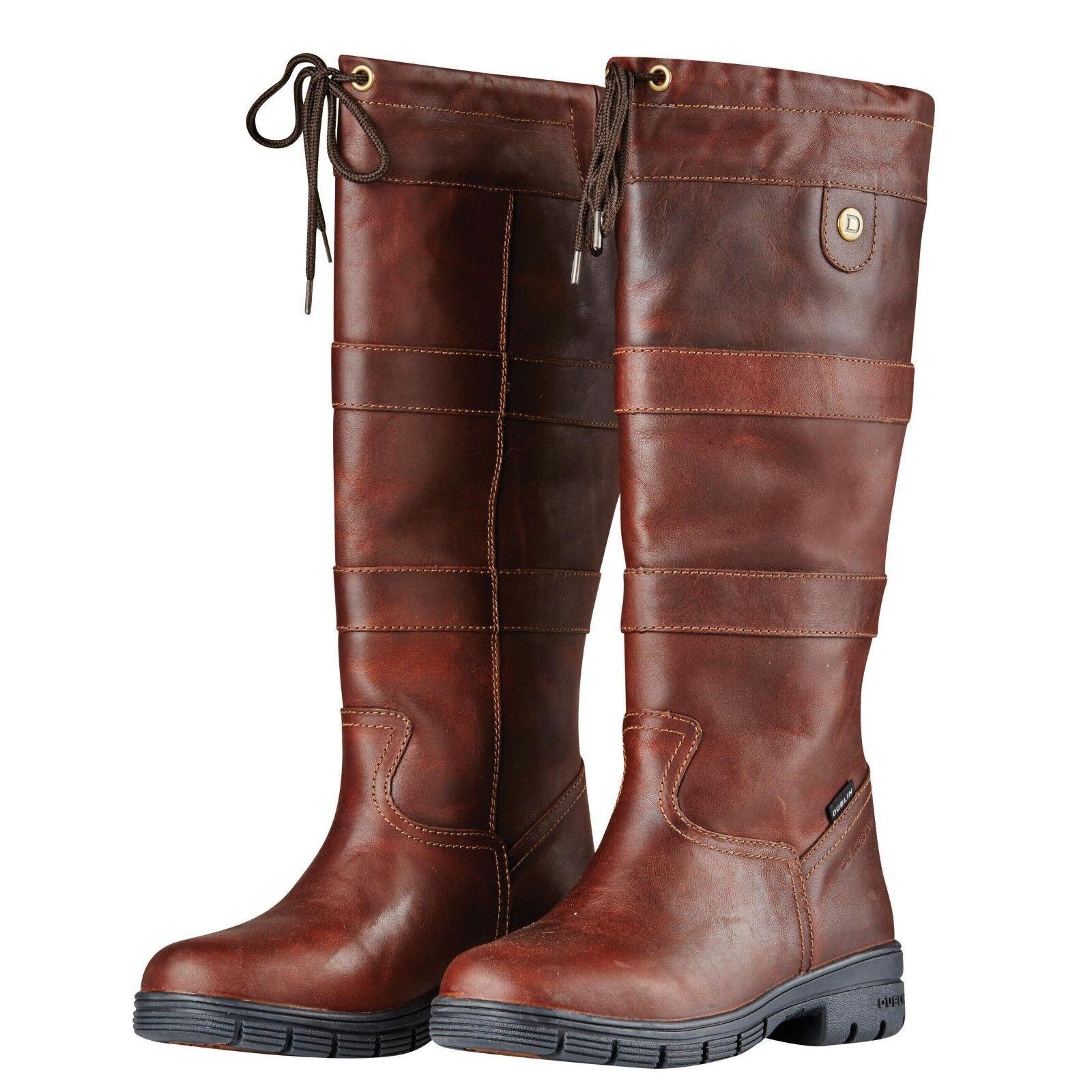 Dublin River stivali Waterproof Full Grain Leather cavallo equitazione Country avvio nuovo